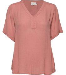 amber ss blouse blouses short-sleeved rosa kaffe
