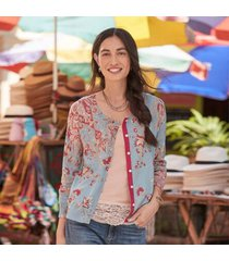 sundance catalog women's eliza bliss cardigan in mint large
