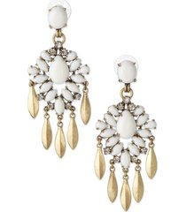 orecchini pendenti con gemme bianche e bohemien orecchini pendenti con gemme e nappe in lega di neve