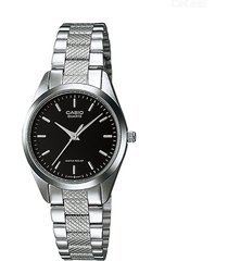 reloj casio dama ltp 1274d 1b acero inoxidable - negro