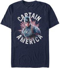 marvel men's avengers captain america star burst short sleeve t-shirt