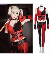 batman arkham city harley quinn costume women harley quinn cosplay outfit