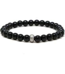 ettika men's onyx beaded stretch bracelet in black at nordstrom