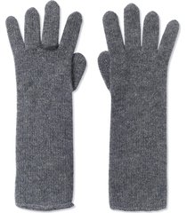 cashmere ring gloves - grey