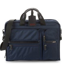 tumi men's large compact laptop case - navy