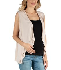 24seven comfort apparel sleeveless open front maternity cardigan vest