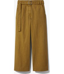proenza schouler white label belted washed cotton pants moss/green 8