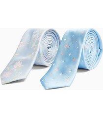 mens light blue floral tie multipack