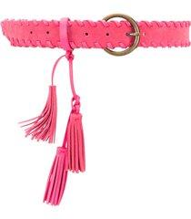 twin-set tassel-detail belt - pink