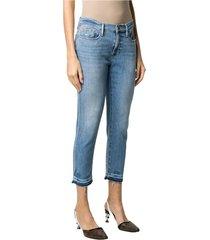 low rise crop jeans