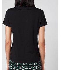 kenzo women's classic fit t-shirt kenzo logo - black - l