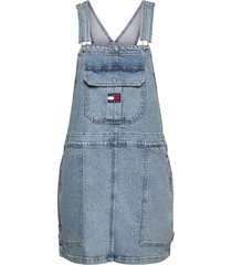 cargo dungaree dress llbc dresses jeans dresses blå tommy jeans