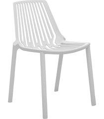 conjunto 06 cadeiras morgana branca rivatti