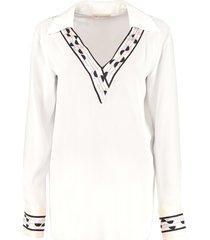 emilio pucci printed silk blouse