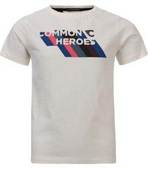 common heroes off/white t-shirt voor jongens in de kleur