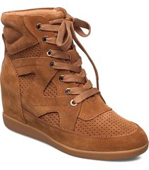 stb-emmy lace s höga sneakers brun shoe the bear