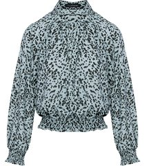 leopard blouse mint