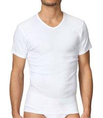 calida cotton 1 herr t-shirt v 14315 * gratis verzending *