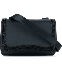 chanel pre-owned 1997-1999 cc logos beads shoulder bag - black