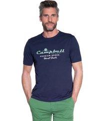 campbell t-shirt met korte mouwen blauw