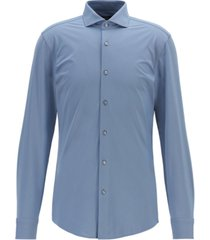 boss men's jason slim-fit italian performance-stretch shirt