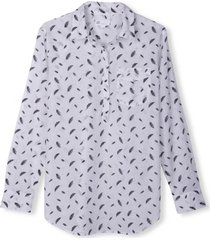 blusa boyfriend prints blanco gap