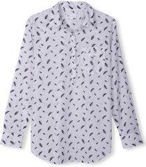 blusa boyfriend prints blanco gap