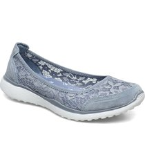womens microburst - sweeat bloom ballerinaskor ballerinas blå skechers