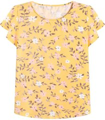camiseta m/c estampado floral