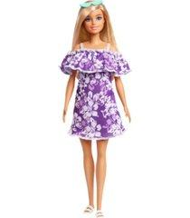 barbie loves the ocean purple floral dress w/ruffle
