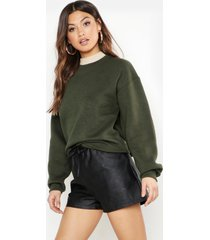 oversized sweatshirt, khaki