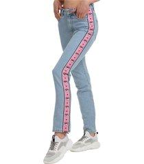 jeans a sigaretta donna logomania
