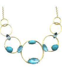 18k prisma gold & multi-stone collar necklace
