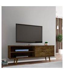 rack móveis bechara onix tv até 60 pol 2 portas madeira rústica