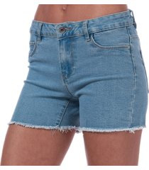 only womens sun denim shorts size 6-8 in blue