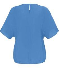 blouse korte mouwen van emilia lay blauw