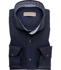 john miller shirt tailored fit donkerblauw