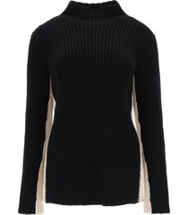 colville two-tone wool sweater
