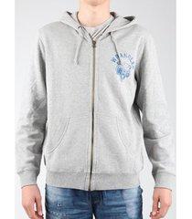 fleece jack wrangler hoodie zip sweat w6497je37