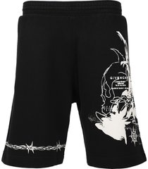 barbed boxy fit shorts black