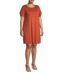 sanctuary women's plus so twisted t-shirt dress - dusk - size 1x (14-16)