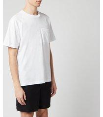 acne studios men's reverse label t-shirt - optic white - xl