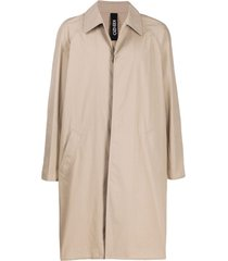 kenzo trench coat com abotoamento simples - neutro