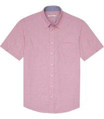 camisa manga corta textura para hombre 97004