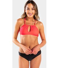 kela bralette swimsuit top - neon pink