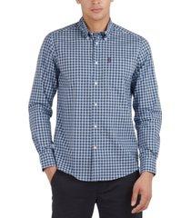 barbour men's tailored-fit gingham check poplin shirt