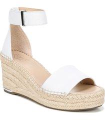 women's franco sarto clemens espadrille wedge sandal, size 10 m - white