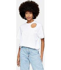 *white organic cotton cut out t-shirt by topshop boutique - white