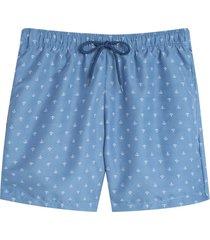 pantaloneta playa anclas color azul, talla s