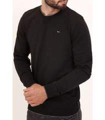 blusão liso tricot masculino preto